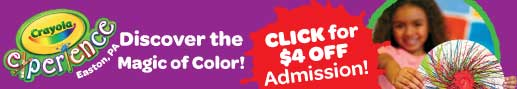 Crayola Experience, discount coupon, Easton, PA