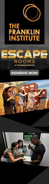 Escape Rooms, reserve now, The Franklin Institute, Philadelphia, PA
